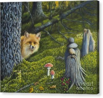 Forest Life Canvas Print by Veikko Suikkanen