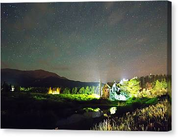 Forest Of Stars Above The Chapel On The Rock Canvas Print by James BO  Insogna