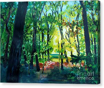 Forest Scene 1 Canvas Print by Kathy Braud