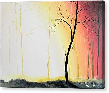 Forest Sunset Canvas Print by Denisa Laura Doltu