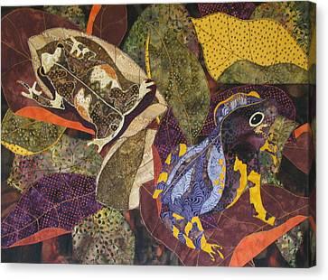 Forest Toads Canvas Print by Lynda K Boardman