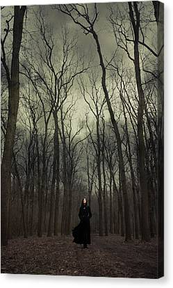 Forest Witch Canvas Print by Cambion Art