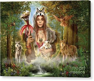 Forest Wolves Canvas Print by Ciro Marchetti