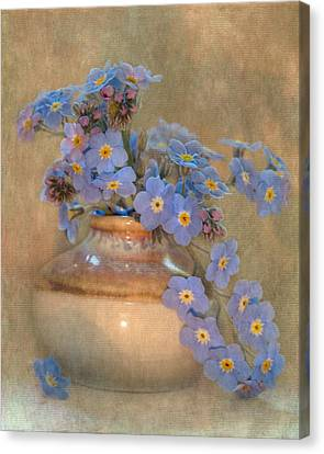 Forget Me Not Bouquet Canvas Print by Angie Vogel
