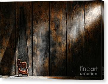 Forgotten Tool Canvas Print by Olivier Le Queinec