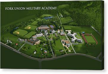Fork Union Military Academy Canvas Print by Rhett and Sherry  Erb