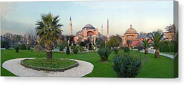 Formal Garden In Front Of A Church, Aya Canvas Print by Panoramic Images