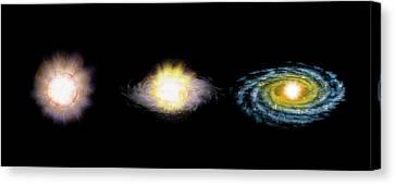 Formation Of A Star Canvas Print by Claus Lunau