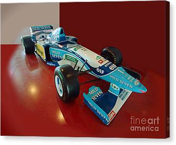 Formula 1 Benetton Renault From Michael Schumacher Canvas Print by Rudi Prott