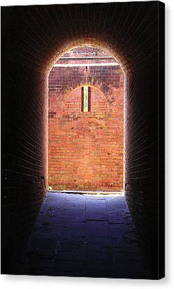 Fort Clinch Tunnel 2 Canvas Print by Cathy Lindsey
