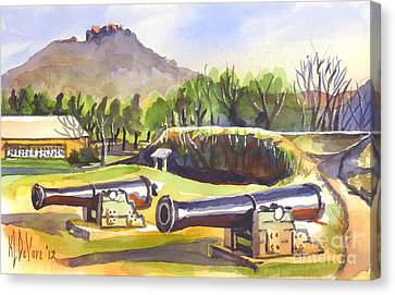 Fort Davidson Cannon II Canvas Print by Kip DeVore