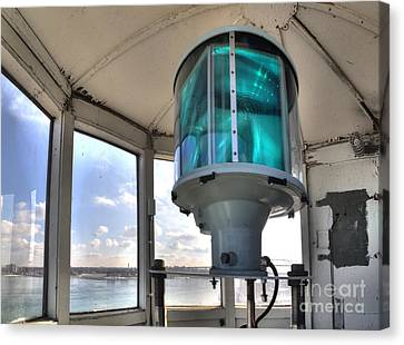 Fort Gratiot Lighthouse Lantern Room Canvas Print by Twenty Two North Photography