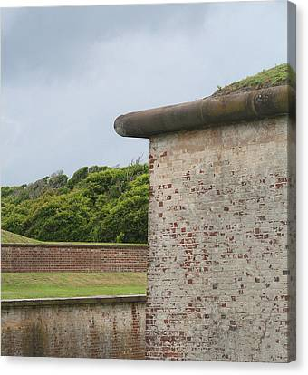 Fort Macon 2  Canvas Print by Cathy Lindsey