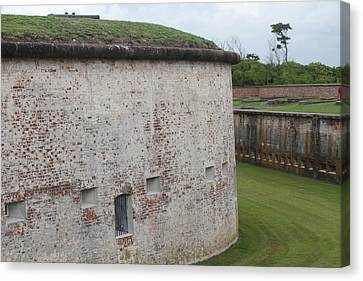 Fort Macon 3 Canvas Print by Cathy Lindsey
