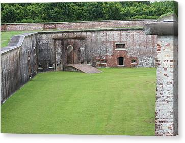 Fort Macon 4 Canvas Print by Cathy Lindsey