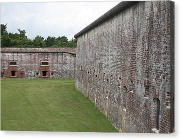 Fort Macon 5 Canvas Print by Cathy Lindsey