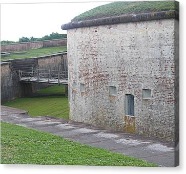 Fort Macon 8 Canvas Print by Cathy Lindsey