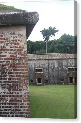 Fort Macon 9 Canvas Print by Cathy Lindsey