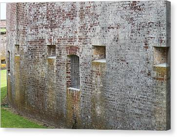 Fort Macon Canvas Print by Cathy Lindsey