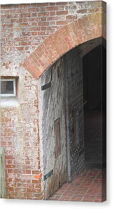Fort Macon Entrance 2 Canvas Print by Cathy Lindsey
