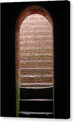 Fort Macon Tunnel Canvas Print by Cathy Lindsey