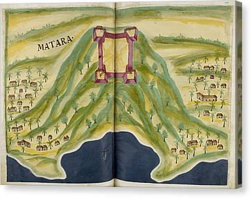 Fort Of Matara Canvas Print by British Library