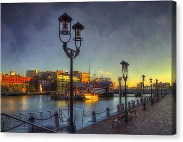 Fort Point Channel Sunset - Boston Canvas Print by Joann Vitali