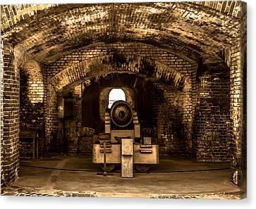 Fort Sumter Famous Cannon Canvas Print by Optical Playground By MP Ray