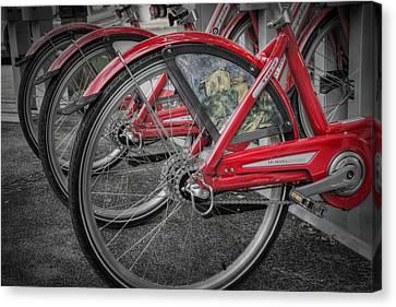 Fort Worth Bikes Canvas Print by Joan Carroll