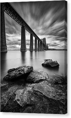 Forth Bridge Canvas Print by Dave Bowman