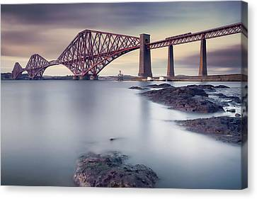 Forth Rail Bridge Canvas Print by Martin Vlasko