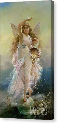 Fortuna Canvas Print by Jean Francois Armand Felix Bernard
