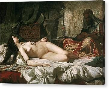 Fortuny, Mariano 1838-1874. Odalisque Canvas Print by Everett
