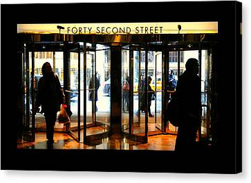 Forty Second Street Canvas Print by Diana Angstadt