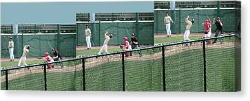 Foul Ball 3 Panel Composite Canvas Print by Thomas Woolworth