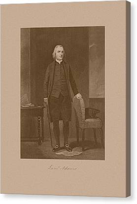 Founding Father Samuel Adams Canvas Print by War Is Hell Store