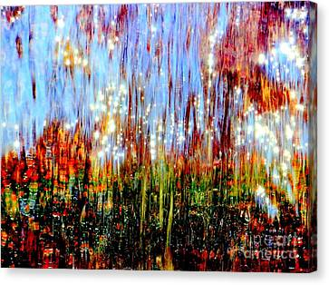 Water Fountain Abstract 3 Canvas Print by Ed Weidman