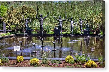 Fountain Of The Muses Canvas Print by Rob Sellers