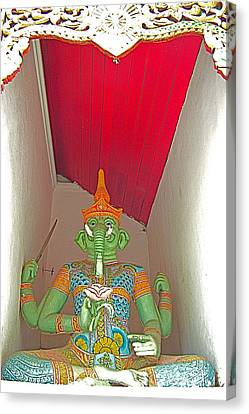 Four-armed Figure At Wat Phrathat Doi Sutep In Chiang Mai-thaila Canvas Print by Ruth Hager