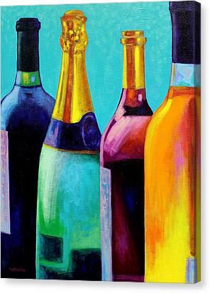 Four Bottles Canvas Print by John  Nolan