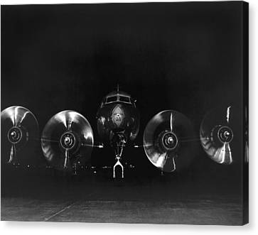 Four Engine Airplane Canvas Print by Underwood Archives