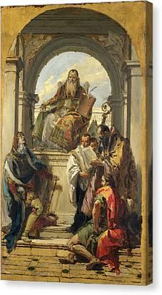 Four Saints Canvas Print by Giovanni Battista Tiepolo