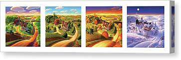 Four Seasons On The Farm Canvas Print by Robin Moline