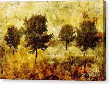 Four Trees Canvas Print by John Edwards