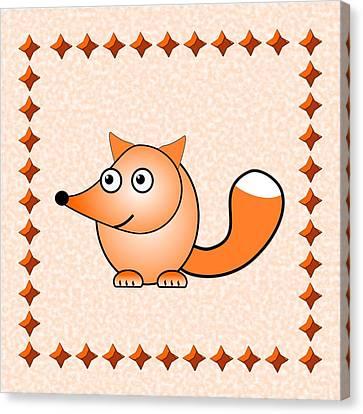 Fox - Animals - Art For Kids Canvas Print by Anastasiya Malakhova