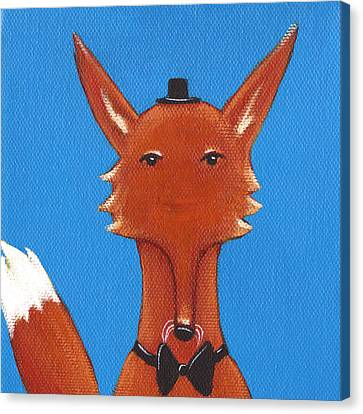 Fox Canvas Print by Christy Beckwith