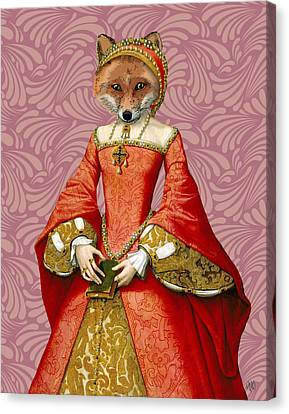 Fox Queen Canvas Print by Kelly McLaughlan