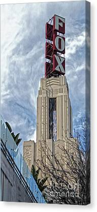 Fox Theater - Pomona - 01 Canvas Print by Gregory Dyer