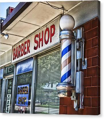 Fox's Barber Shop Canvas Print by David Waldo