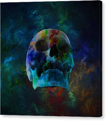 Fracskull 3 Canvas Print by Chris Thomas